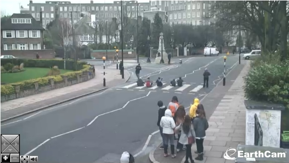 Abbey road crossing London