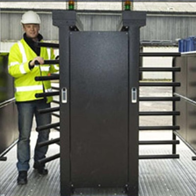 turnstiles installer on site