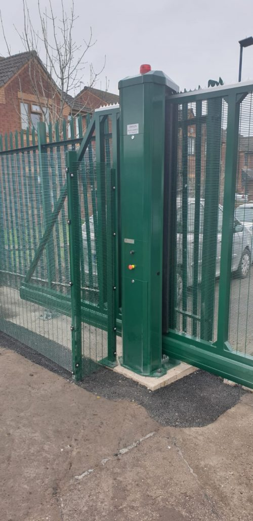 tall fencing for gate
