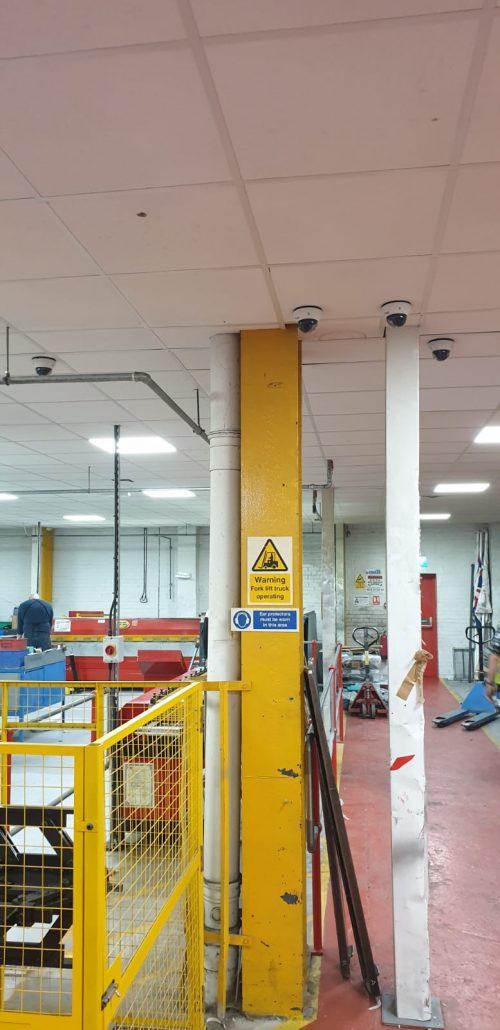 CCTV industrial installation