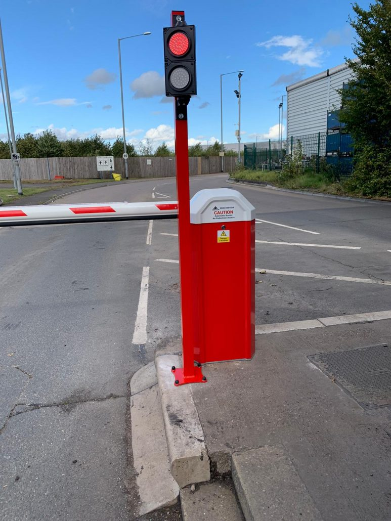 Automatic Parking barriers light controlled